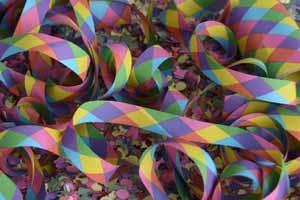 Lucky Selfie Fotobox - Hintergrund Karneval & Konfetti - Bildvorlage 053