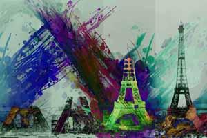 Lucky Selfie Fotobox - Hintergrund Frankreich & Paris - Bildvorlage 071