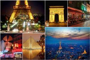 Lucky Selfie Fotobox - Hintergrund Frankreich & Paris - Bildvorlage 077