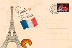 Lucky Selfie Fotobox - Hintergrund Frankreich & Paris - Bildvorlage 078